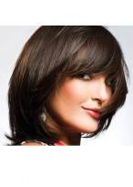 Straight Capless Synthetic Medium Length Wig