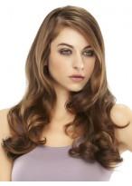 """18"""" Wavy 100% Remy Human Hair Half Wig"""