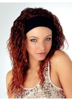 Funky Softly Crimped Synthetic Band 3/4 Wig