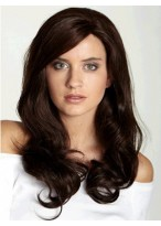 Long Wavy Remy Human Hair 3/4 Wig