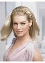 Braided Headband with Straight Style 3/4 Wigs
