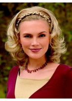 Mid-length Synthetic Braided Headband Wig