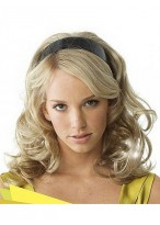 Long Wavy Synthetic Band 3/4 Wigs