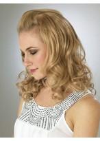 Beautiful mid-length Blonde Wavy 3/4 Wigs