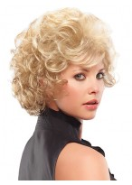 Curly Lovely Synthetic 3/4 Wig