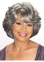 "10"" Wavy Synthetic Silver Wig"