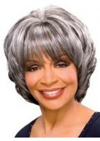 """10"""" Wavy Synthetic Grey Wig"""