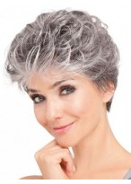 Soft Wavy Front Lace Synthetic Grey Wig