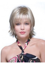 Graceful Natural Straight Synthetic Capless Grey Wig