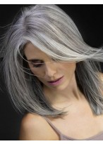 Smooth Straight Shoulder Length Wig