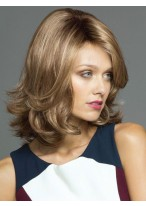 Shoulder Length Wavy Synthetic Capless Wig For Women