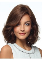Should Length Wavy Ends Synthetic Wigs For Ladies